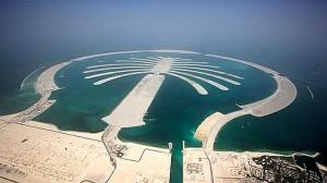 The Palm Resort, and the Palm Jumeirah during  in Dubai, United Arab Emirates.