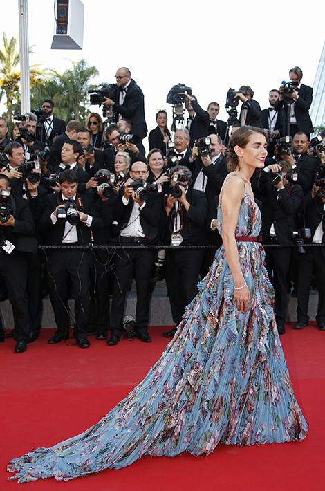 "Charlotte Casiraghi poses on the red carpet as she arrives for the screening of the film ""Carol"" in competition at the 68th Cannes Film Festival in Cannes, southern France, May 17, 2015.     REUTERS/Eric Gaillard - RTX1DCD4"
