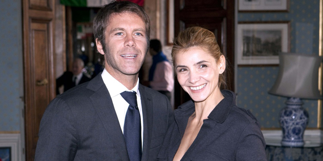 Prince Emanuele Filiberto of Savoy and his wife French actress Clotilde Courau celebrate the 133rd anniversary of the foundation of the National Guard of Honor for the Royal Tombs of the Pantheon, in Rome, Italy on January 16, 2011. Photo by Olycom/ABACAPRESS.COM
