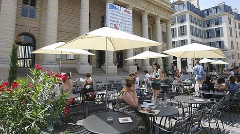 TERRASSE DE L ODEON   a paris le 26/06/2010 Sébastien SORIANO / LE Figaro