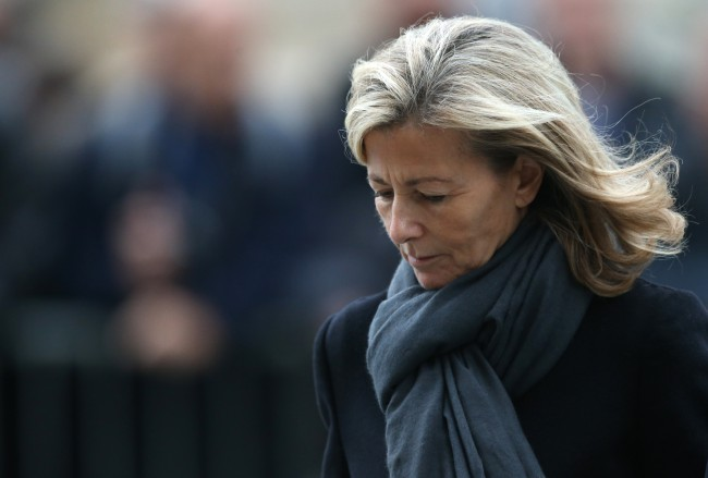 """French journalist Claire Chazal arrives at the Saint-Sulpice church to attend the funeral ceremony of French theatre, opera and cinema director Patrice Chereau on October 16, 2013 in Paris. Chereau, whose works ranged from the epic 1994 film """"La Reine Margot"""" to the seminal 1976 production of Wagner's """"Ring Cycle"""", died aged 68, on October 7, 2013. AFP PHOTO / KENZO TRIBOUILLARD"""