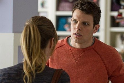 (L-R) Leslie Mann as Meg and Jake Lacy as Ken in ``How to Be Single.''