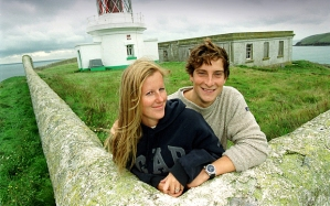 St.Tudwal's Island (West), off Abersoch, North Wales, with its semi-ruined house, owned by Bear Grylls and his wife Shara.