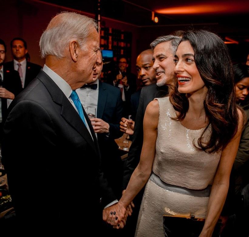 Joe Biden und Amal Clooney, 2016