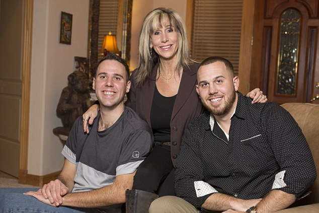 December 16th, 2016. Picture Shows Tracy Anne Dooley, center with her sons Thomas Dooley Markle, left and Tyler Dooley Markle, right. Thomas and Tyler are nephews of Meghan Markle.
