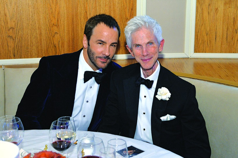 WEST HOLLYWOOD, CA - MARCH 02: (EXCLUSIVE ACCESS, SPECIAL RATES APPLY) Designer Tom Ford (L) and Richard Buckley attend the 2014 Vanity Fair Oscar Party Viewing Dinner Hosted By Graydon Carter on March 2, 2014 in West Hollywood, California. (Photo by Larry Busacca/VF14/WireImage)