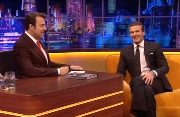 David Beckham on The Jonathan Ross Show - 14 December 2013 At the end of the interview Jonathan askes if David has heard if he's getting a knighthood in the New Years Honours List ***TMos YOUTUBE GRABS***